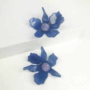 lele sadoughi Jewelry - LELE SADOUGHI | Crystal Lily Earrings in Blue
